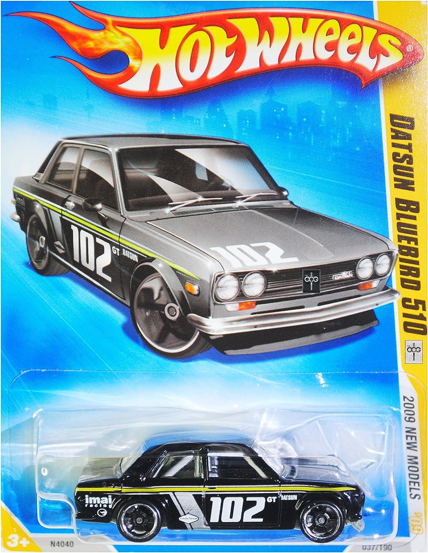 HOT WHEELS 2009 NEW MODELS 1969 DATSUN blueEBIRD 510 VARIANT BLACK KMART COLLECTOR DAY CAR  37