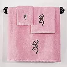 Browning Buckmark Hand Towel Color: Pink