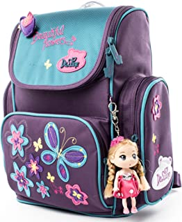 Kids Backpack Cute Schoolbag with Lovely Doll for Girls and Boys - Waterproof/Lightweight/Noble (1-003)