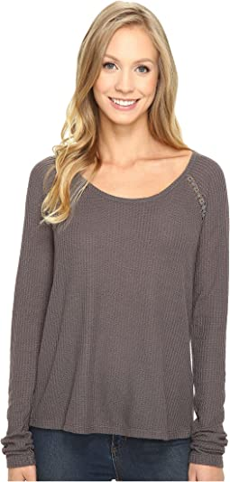 Lucky Brand Lace Mixed Thermal Top