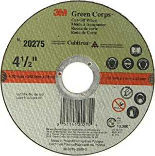 3M Green Corps Cut-Off Wheel 20275, Ceramic, 13300 rpm, 4-1/2