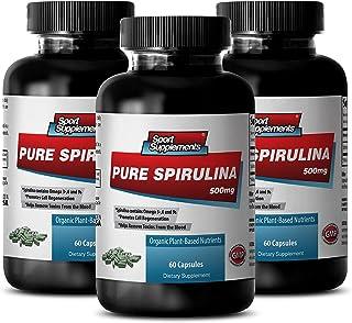 Spirulina Chlorella Wheatgrass - Pure Spirulina 500mg - Improve Vitality and Immune System with Top Spirulina Supplement (...