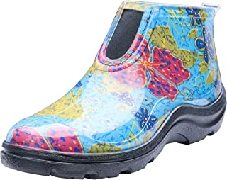 Sloggers Women's Waterproof Rain and Garden Ankle Boots with Comfort Insole, Midsummer Blue, Size 9, Style 2841BL09