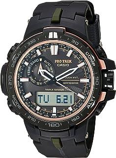 Casio - Reloj deportivo de cuarzo 'Pro Trek' para hombre, acero inoxidable y resina, color: negro (modelo: PRW-S6000Y-1CR)