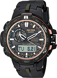 Casio Men's 'Pro Trek' Quartz Stainless Steel and Resin Sport Watch, Color:Black (Model: PRW-S6000Y-1CR)