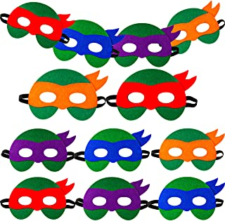 PROLOSO 12 Pcs Superhero Masks for Kids Felt Eye Masks Cosplay Masks Kids Theme Birthday Party Supplies Favors