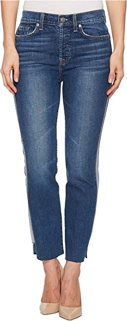 7 For All Mankind Edie w/ Reverse Step Side Panel in Mojave Dusk