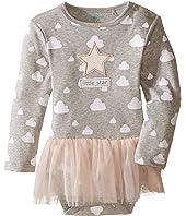 C&C California Kids - Tulle Ruffle Layered Dress Bodysuit (Infant)