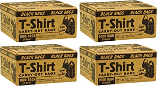 Poly-America Black T-Shirt Carryout Bags (1,000 ct.)