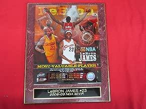 Lebron James Cavaliers 2008-09 NBA MVP Collector Plaque w/8x10 Photo