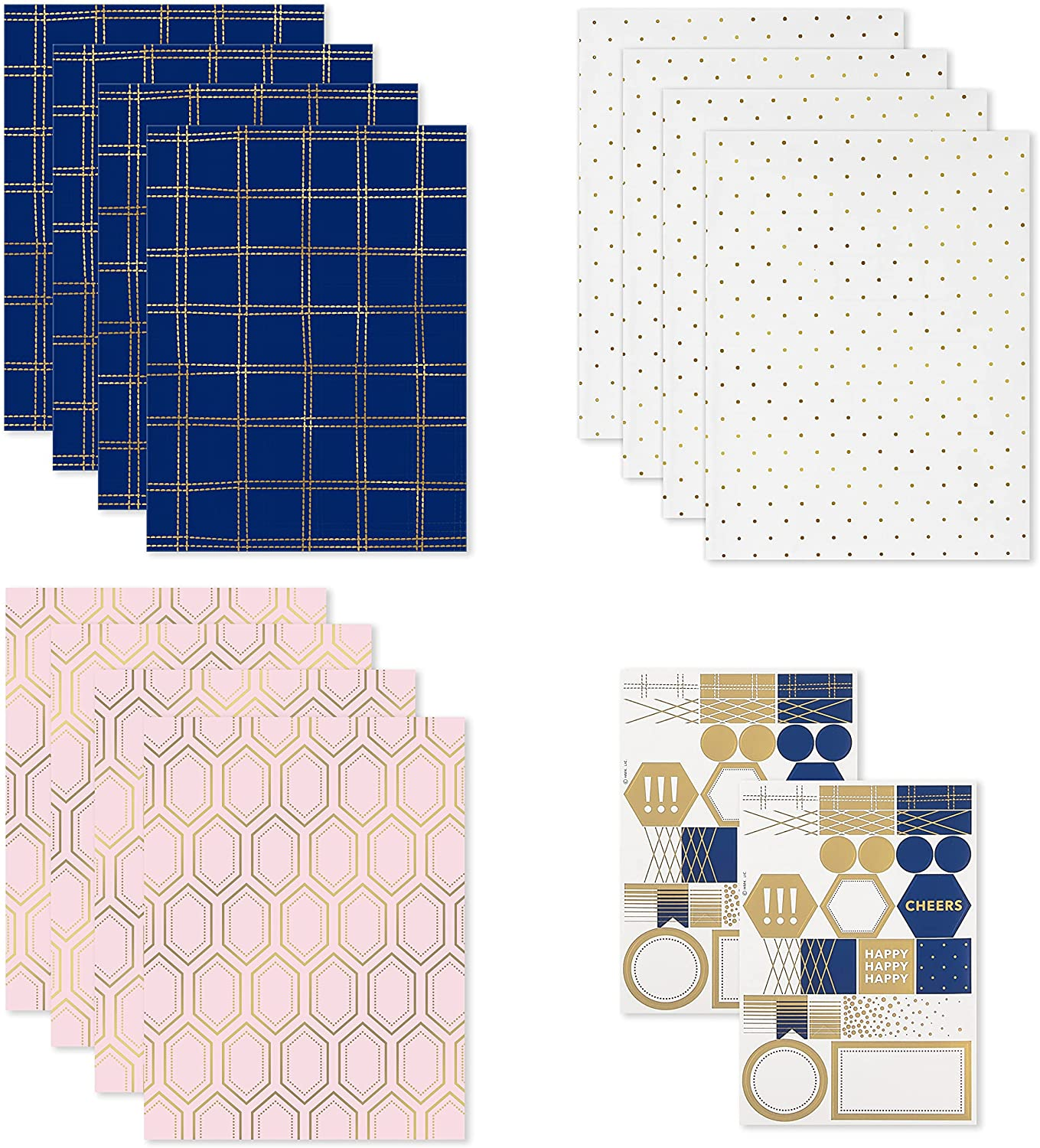 Hallmark Flat Wrapping Paper Sheets Reverse Philadelphia Mall on Cutlines with 12 Washington Mall