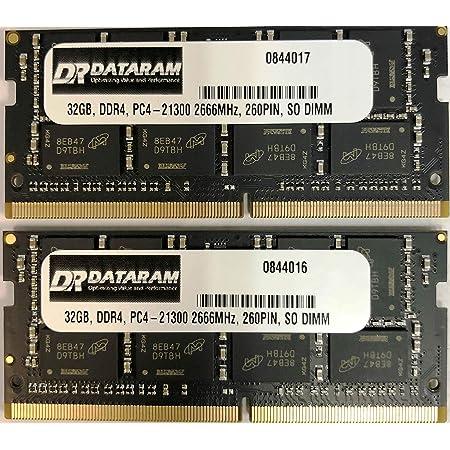 DATARAM 64GB メモリー RAM アップグレード (2 x 32GB) DDR4 2666Mhz PC4-21300 CL19 SO DIMM 2018 Apple Mac Mini 8,1 A1993に対応