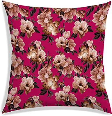 RADANYA Floral Pattern Decorative Sofa Covers/Cushion Covers 18x18 Inches-Filler Included