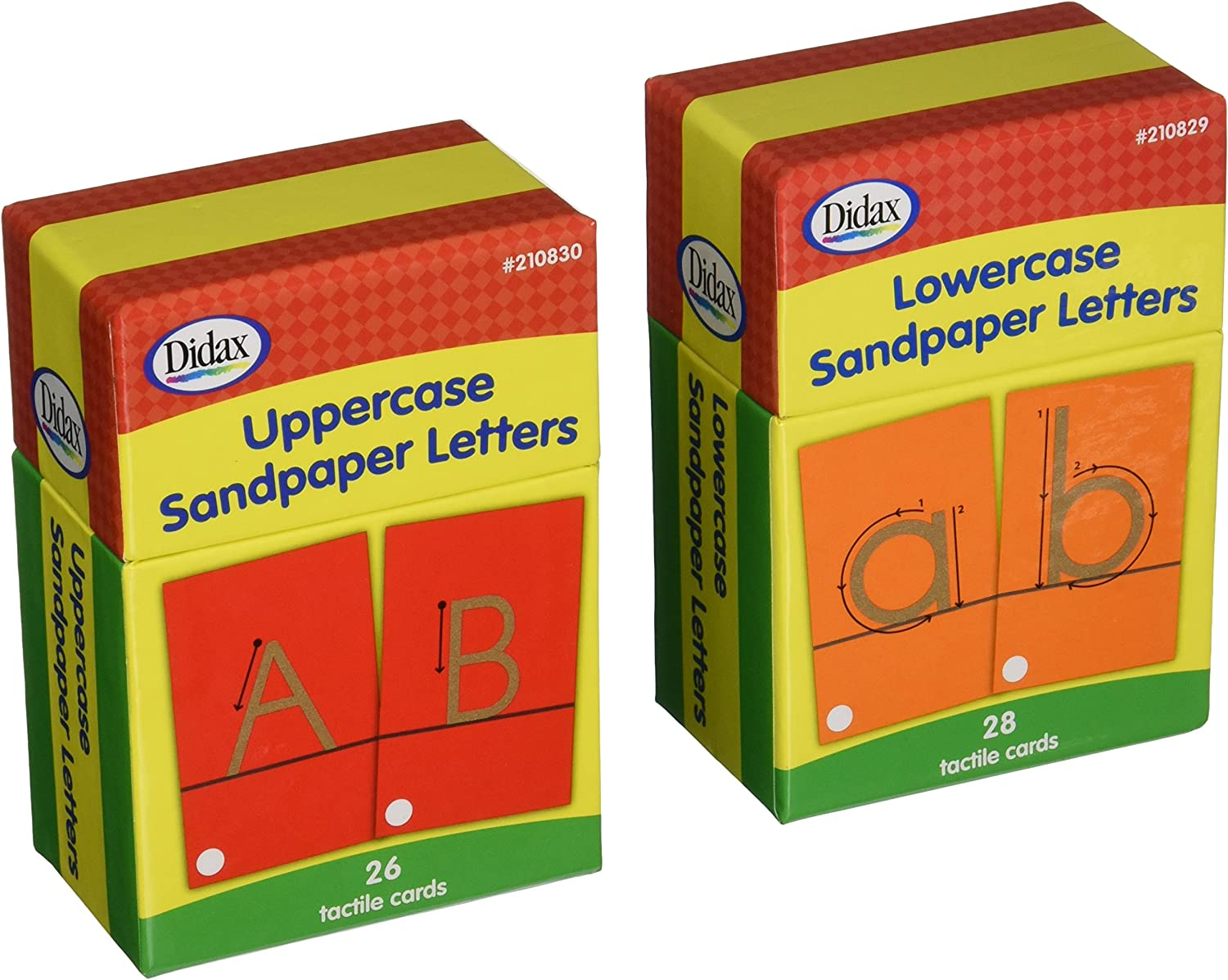 Didax Educational Resources Sandpapers Letters Boxed Set
