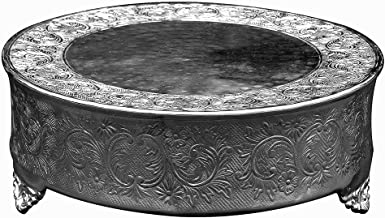 GiftBay Creations 743-18R-AMA Wedding Round Cake Stand, 18-Inch, Silver
