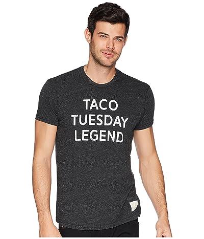 The Original Retro Brand Taco Tuesday Legend Tri-Blend Tee (Streaky Black) Men