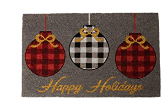 """Notrax Happy Holidays, Vinyl-Backed Natural Coir Doormat, Entry Mat for Indoor or Outdoor Use, 18""""""""x30"""""""", C12 (C12S1830HH)"""""""
