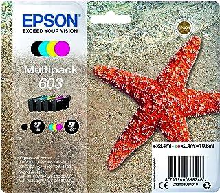 Epson Multipack 603 Etoile de Mer, Cartouches d'Encre d'Origine, 4 Couleurs : Noir, Cyan, Magenta, Jaune, XP-2100 XP-2105 ...