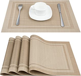 Artand Placemats, Heat-Resistant Placemats Stain Resistant Anti-Skid Washable PVC Table..