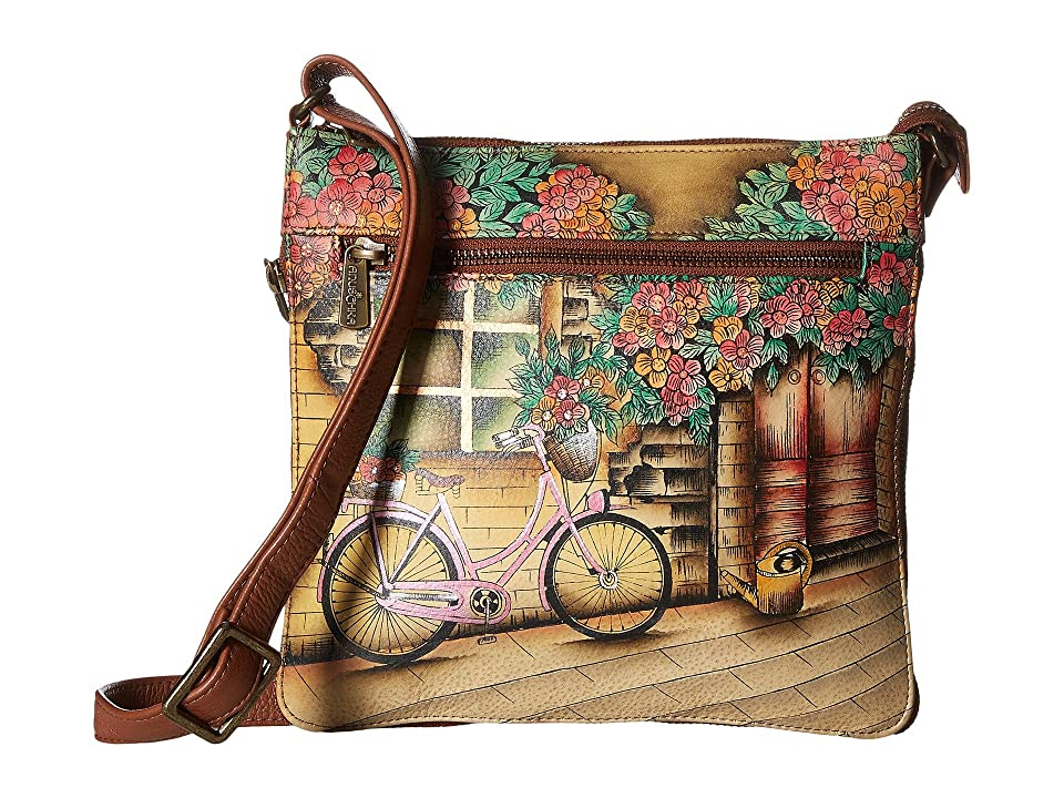 Anuschka Handbags 550 Expandable Travel Crossbody (Vintage Bike) Handbags 3d4632820b