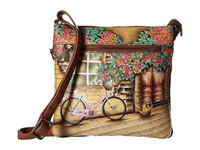 Anuschka Handbags 550 Expandable Travel Crossbody (Vintage Bike) Handbags