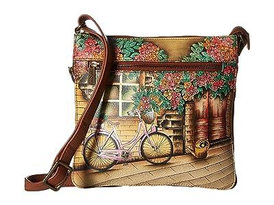 Anuschka Handbags Expandable Travel Crossbody 550 (Vintage Bike) Handbags
