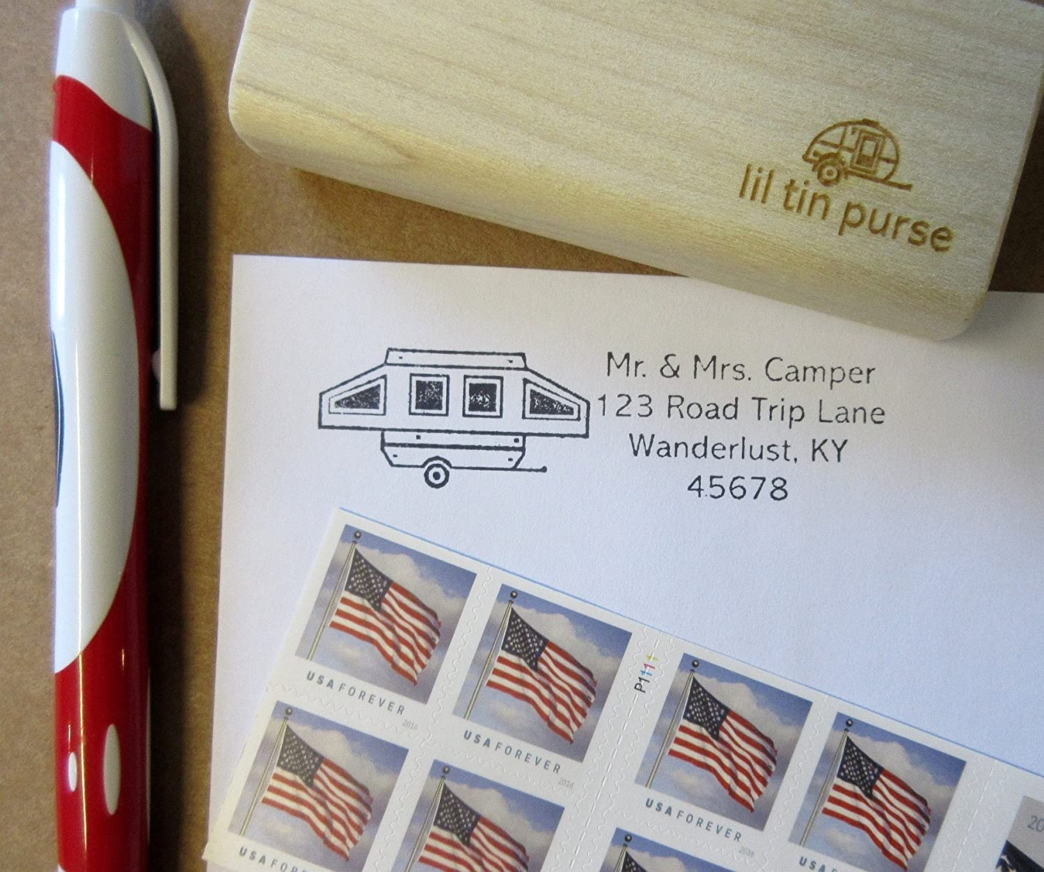 Max 73% OFF Pop Up San Jose Mall Camper Address Stamp Personalized