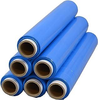 6 Rollen Beste-Folie Stretchfolie 23my 500mmx120m - 1,5 Kg verschiede Farben Palettenfolie Handfolie Wickelfolie blau