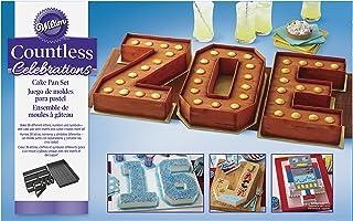 Wilton Molde Antiadherente para Hornear Tartas de Números Celebraciones ZOE, 2105-0801, Aleación, Multicolor, 38 x 23 x 5 cm