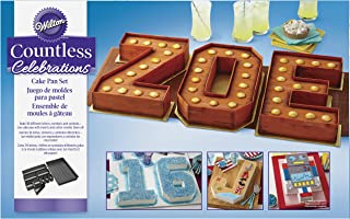 Wilton 2105-0801 Countless Celebrations Set, 10-Piece Letter and Number cake pan