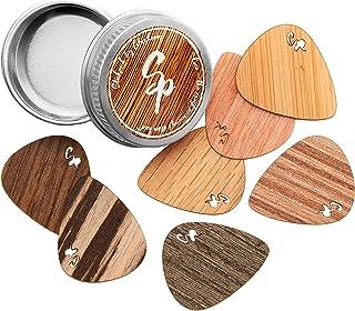 Stickpick | set avec 7 médiators de guitare flexibles en bois véritable précieux | fabriqué de manière durable | Made in G...