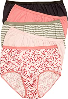 Comfort Choice Women's Plus Size 10-Pack Pure Cotton Full-Cut Brief