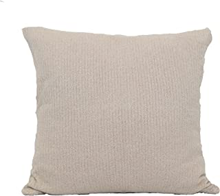 Barefoot Dreams CozyChic Lite Ribbed Pillow Cover with Insert (Sand/Pearl)