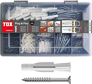 TOX 1190101 assortimentskoffer Plug and Play, 320-delig met universele pluggen Trika 5x31 mm, 6x36 mm, 8x51 mm + perfect a...