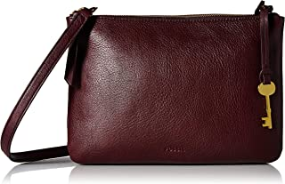 Fossil Devon Leather 25.4 cms Red Messenger Bag (ZB7415)