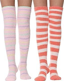 fuzzy knee socks