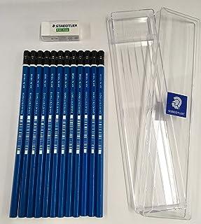 ステッドラー マルス ルモグラフ鉛筆 12本入り 100 TC12用補充セット ロゴ入りケースと字消し付