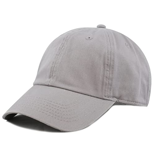8bf84ac586f THE HAT DEPOT Unisex Blank Washed Low Profile Cotton and Denim Baseball Cap  Hat