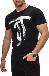 JACK & JONES Men's Short-Sleeved T-Shirt Top Print Casual Basic O-Neck