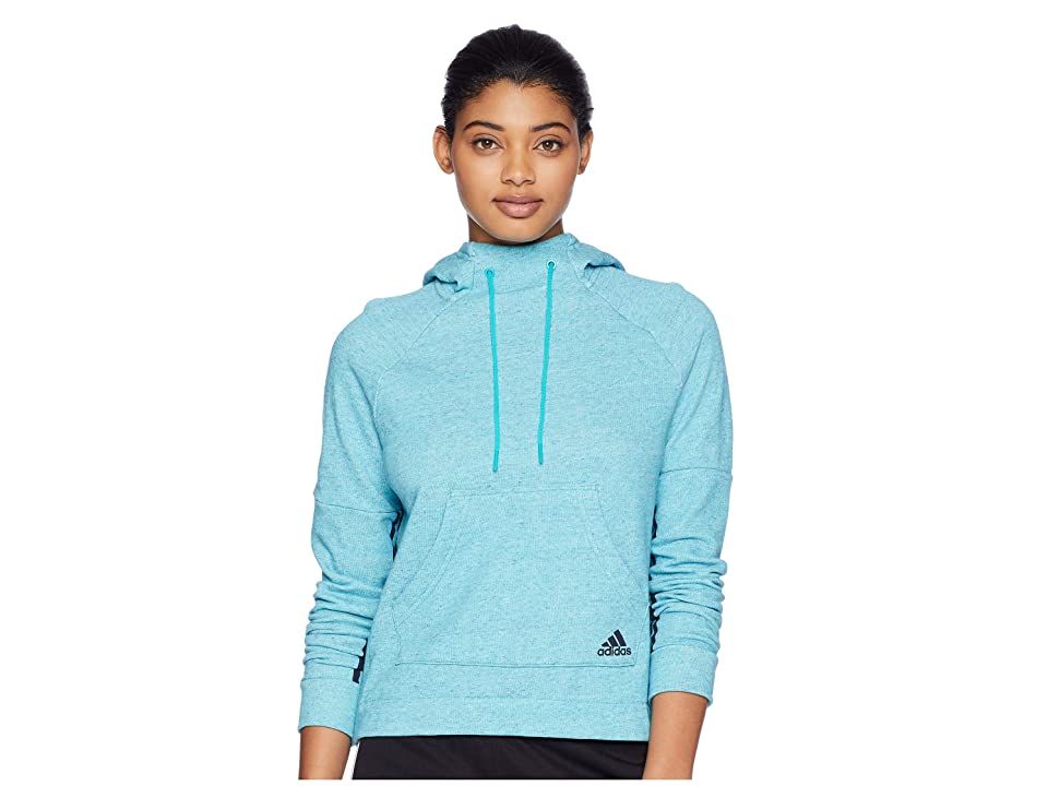 adidas Sport-2-Street Pullover Hoodie (Hi-Res Aqua Melange/Legend Ink) Women
