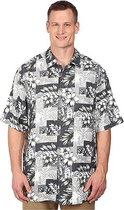 Tommy Bahama Big & Tall - Big & Tall Plumeria Patchwork Tortola Silk Camp Shirt