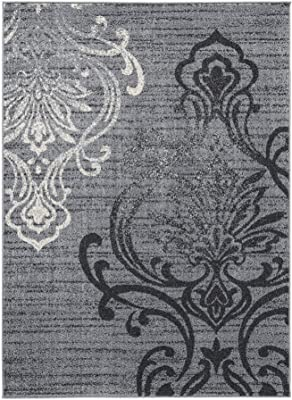 120 x 96 Inches Polypropylene Rug with Medallion Print