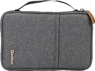 Gray Gray Polyester Oxford 7 x 10 inch Passport Holder