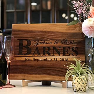 Anniversary Gifts or Wedding Gift - for couple or bride. Personalized Cutting Board, Anniversary Gift for Her, Gift for Men or Women, Wooden Cutting Board - USA Handmade Cutting Board Laser Etched.