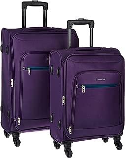 Aristocrat Nile Polyester Purple Softsided Luggage Set (Nile)