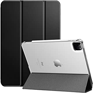 Ztotop iPad Pro 11 ケース 2021/2020 半透明 (第二/三世代)オートスリープ機能 [Penicl2対応] 三つ折スタンド 軽量薄型 全面保護 2021春発売のiPad Pro 11対応スマートカバー (ブラック)