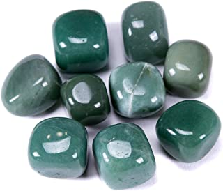 Bingcute Brazilian Tumbled Polished Natural Stones 1/2 Ib For Wicca, Reiki, and Energy Crystal Healing (Aventurine)