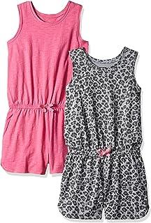 3641f36cf Amazon Brand - Spotted Zebra Girls' Toddler & Kid 2-Pack Knit Sleeveless  Tank