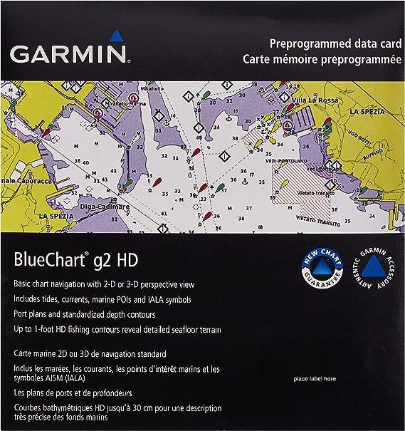 VAE001R BlueChart G2 MARINE GPS MAP micro SD//SD FOR GARMIN GPS