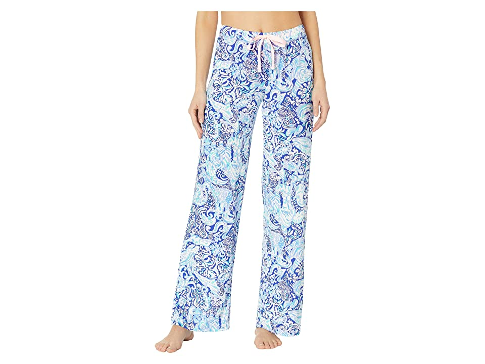 Lilly Pulitzer PJ Knit Pants (Royal Purple 60 Animals) Women